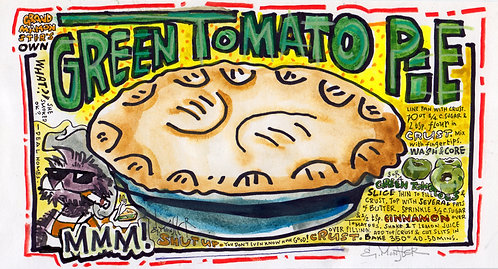 Grandma Monster's Green Tomato Pie Recipe
