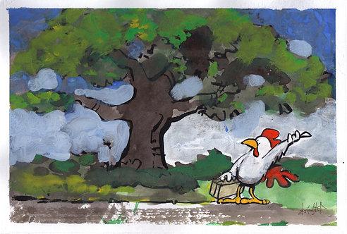 Chicken Hitchhiker - Print