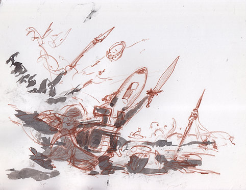 Squirrel Battle Sketch