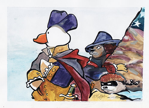 Quackers J. Duck Crossing the Delaware