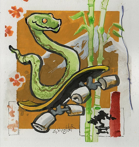 Snake on Skateboard - Set of 3