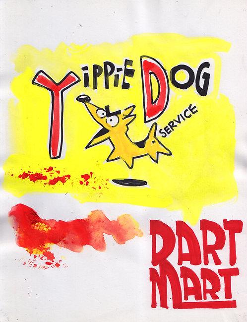 Yippie Dog Dart Mart - Print