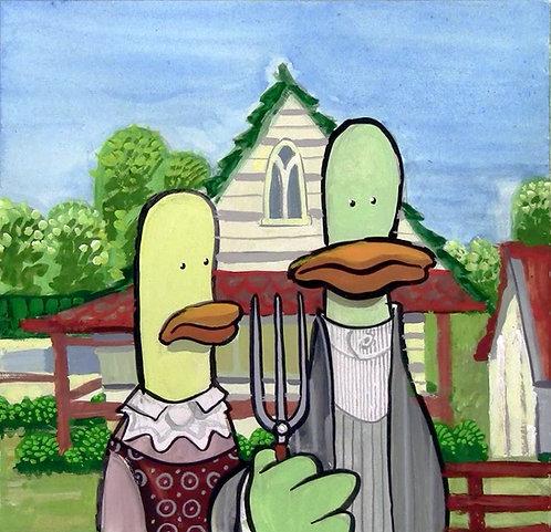 American Gothic Ducks
