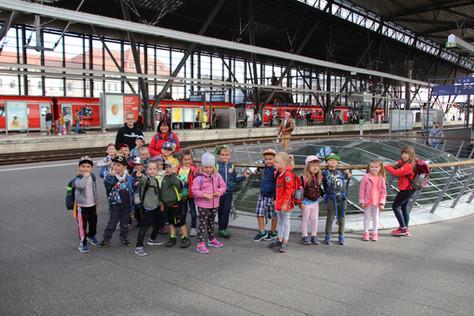 Bei der Erkundungstour zum Hauptbahnhof Erfurt haben wir viel Spannendes erfahren.
