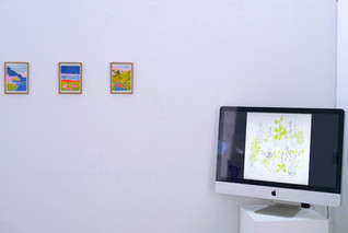Cartes postales, risographie Le jardinier, film d'animation