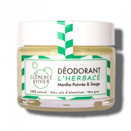 """DEODORANT NATUREL """"L'Herbacé"""" CLEMENCE & VIVIEN"""