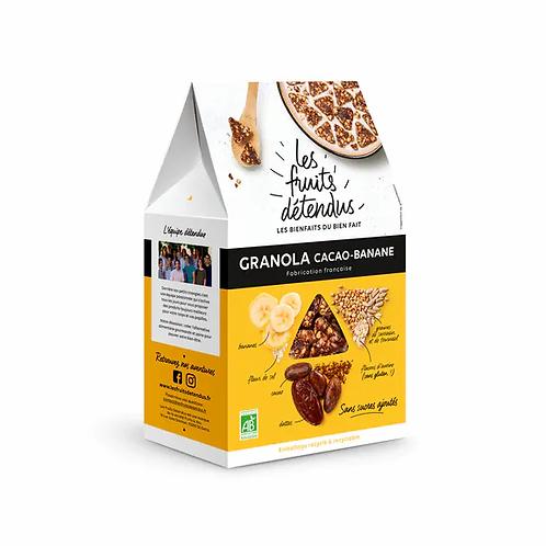 GRANOLA CACAO BANANE 300G - LES FRUITS DETENDUS