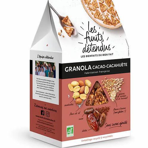 GRANOLA CACAO CACAHUETE 300G - LES FRUITS DETENDUS