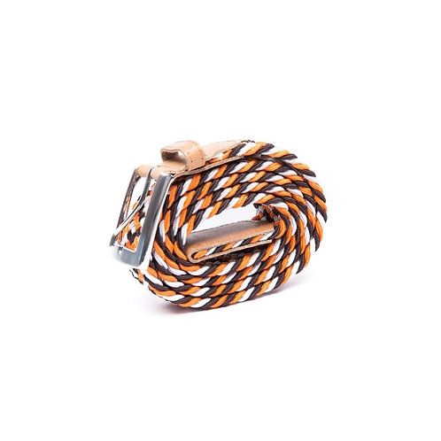 CEINTURE Orange Marron Blanc VERTICAL