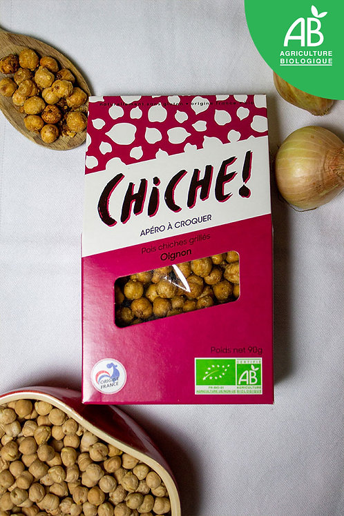 POIS CHICHES GRILLES OIGNONS 90G