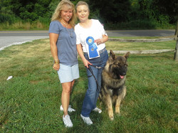 Lori, Michelle, and Odie with 1st Place Rally