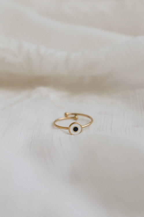 Aria Eye White Ring