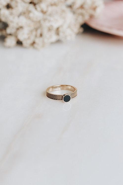 Black Magnolia Ring