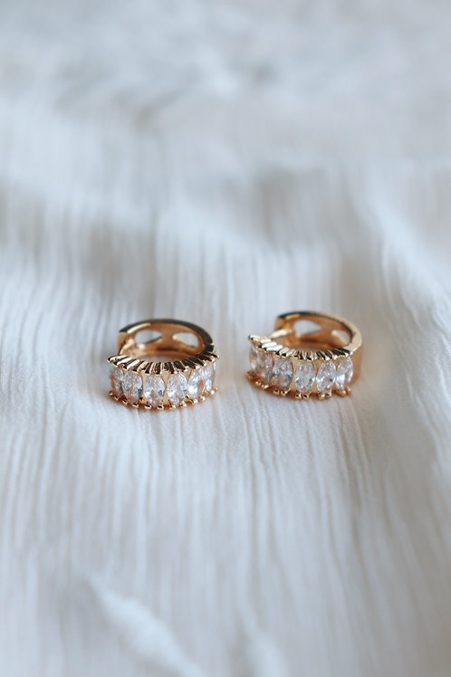 Crystal Pilar Earrings