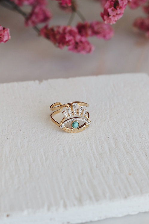 Aqua Eye Ring
