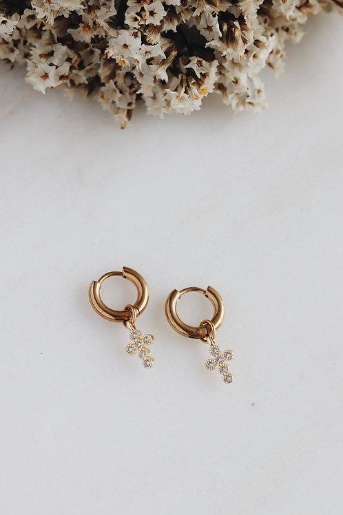 Lady Cross Earrings