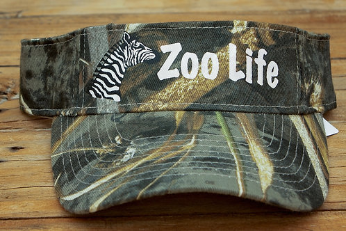 'It's a Zoo Life' Velcro Back Visor
