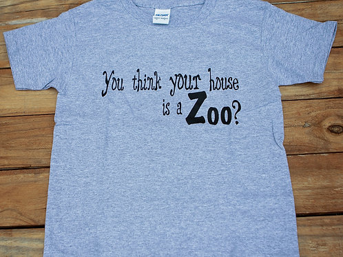 'It's A Zoo Life' Short Sleeve Tee
