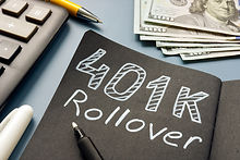 401k rollover memo on the notepad and cash..jpg