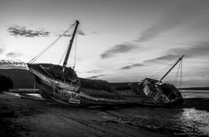 L'épave de l'Accalmie, Baie Saint-Paul