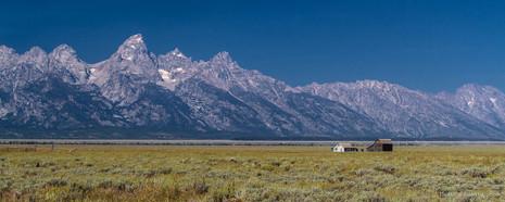 Les majestueuses montagnes et glaciers du parc national de Grand Teton dans le Wyoming