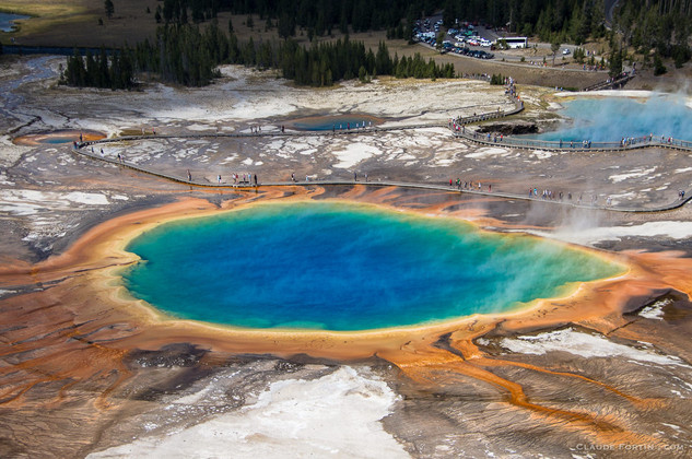 Le Grand Prismatic Spring du Yellowstone National Park