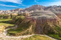 Les Badlands dans l'état du Dakota du sud
