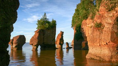 Hopewell Rock dans la baie de Fundy, Nouveau-Brunswick