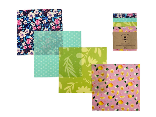 Beeswax Food Wraps 4 Small