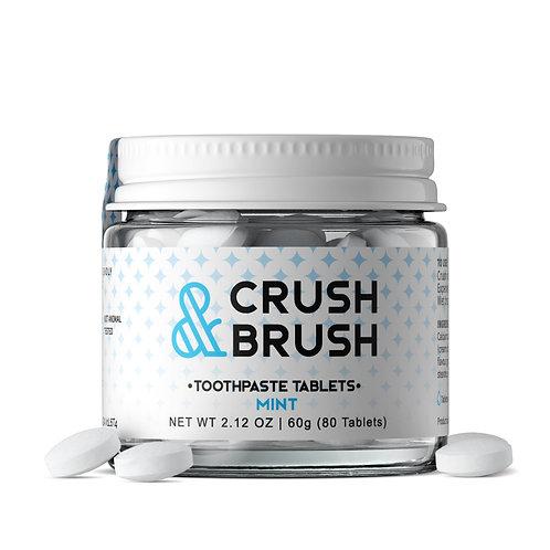 Crush n Brush Mint Toothpaste Tabs