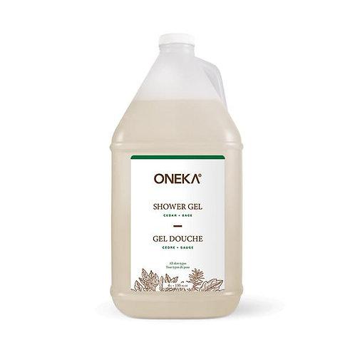 Oneka Cedar and Sage Shower Gel