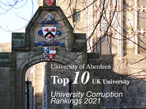 University Corruption Rankings: University of Aberdeen makes top 10 in the UK