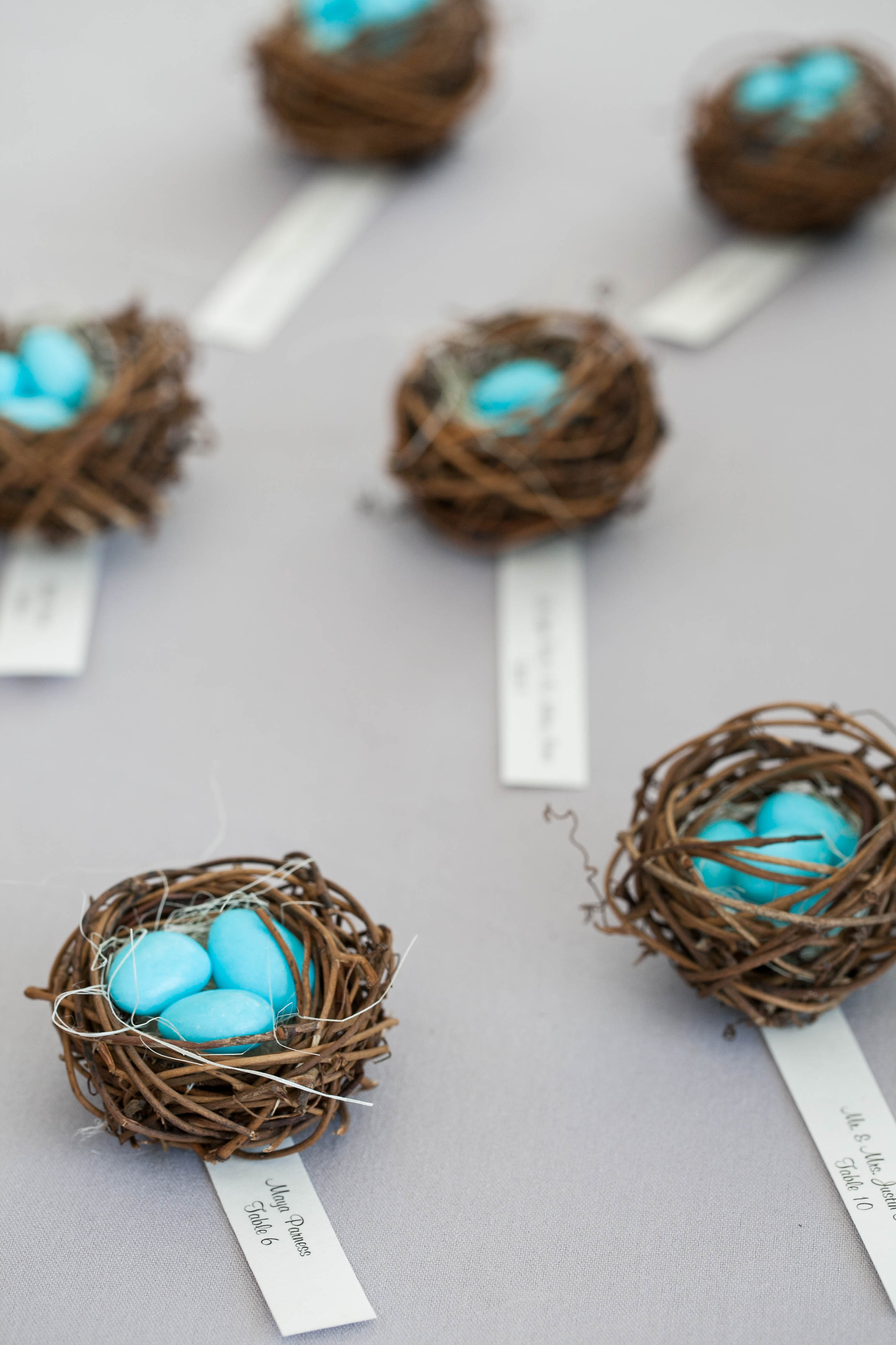 Little nests with Jordan almond eggs