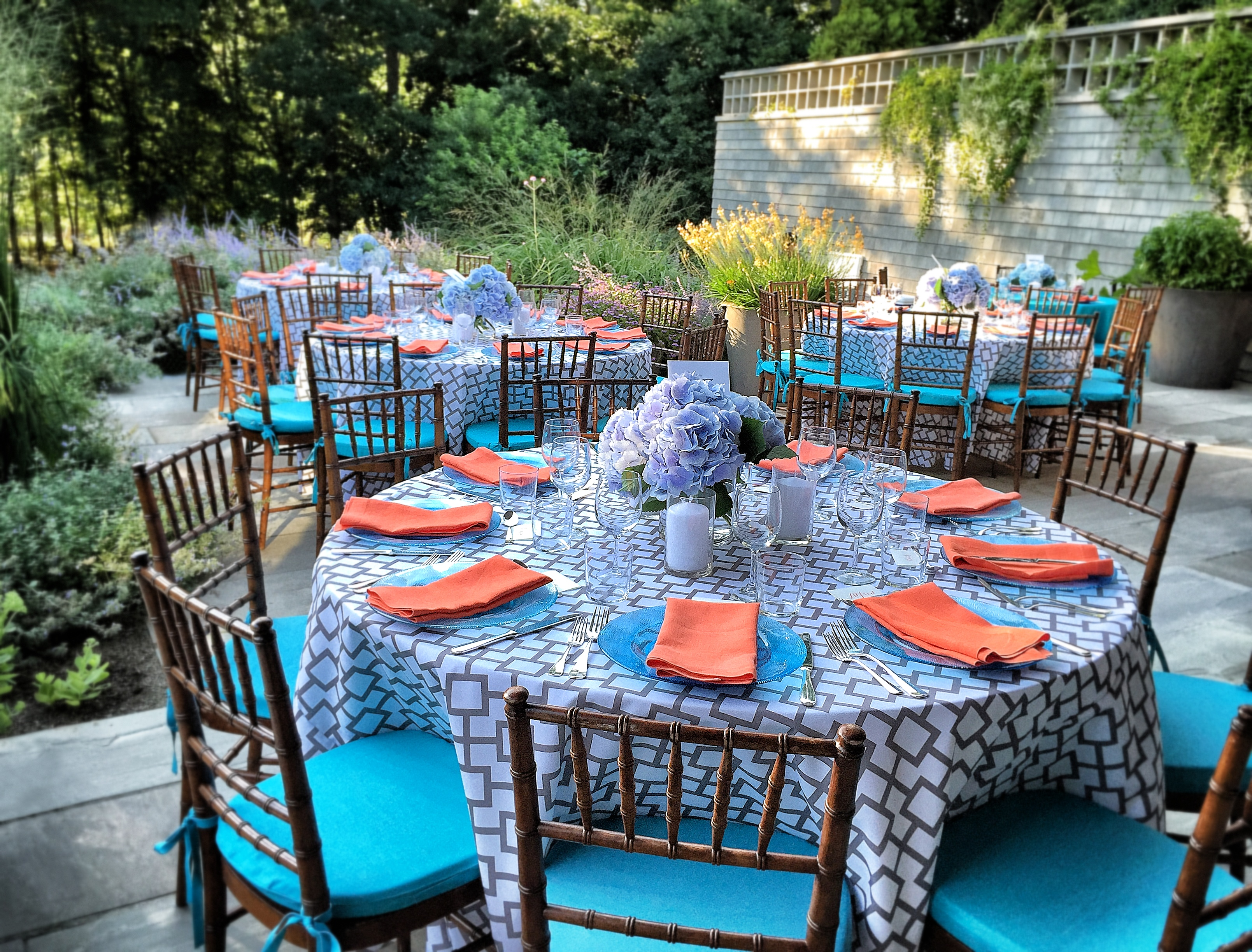 Colorful dinner party