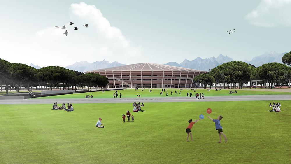 Stadyum Mimari Tasarım ve Render