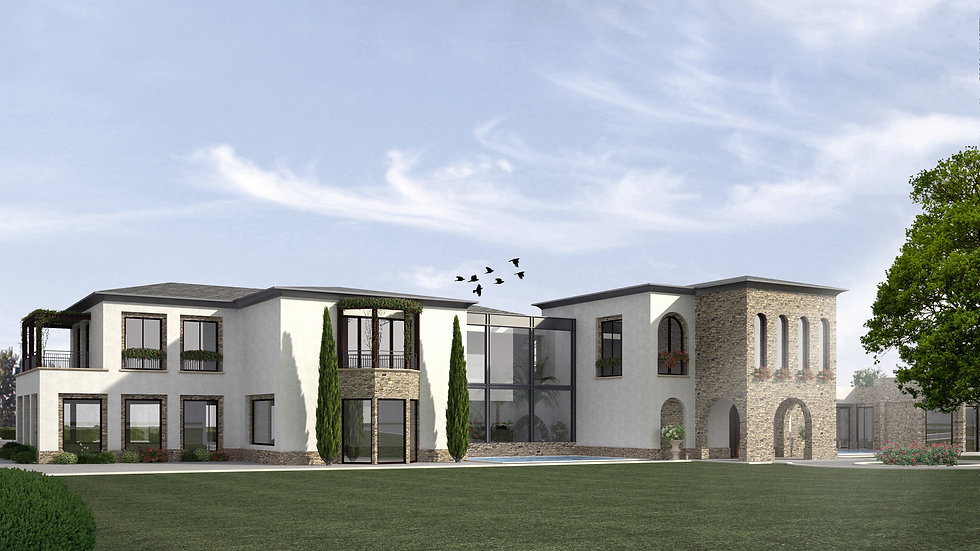 Villa house design and contract
