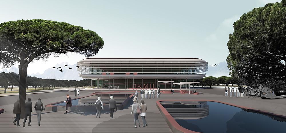 Kongre Merkezi - Oditoryum Mimari Tasarım ve Render