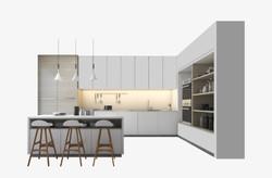 Ahşap ve Beyaz Mutfak