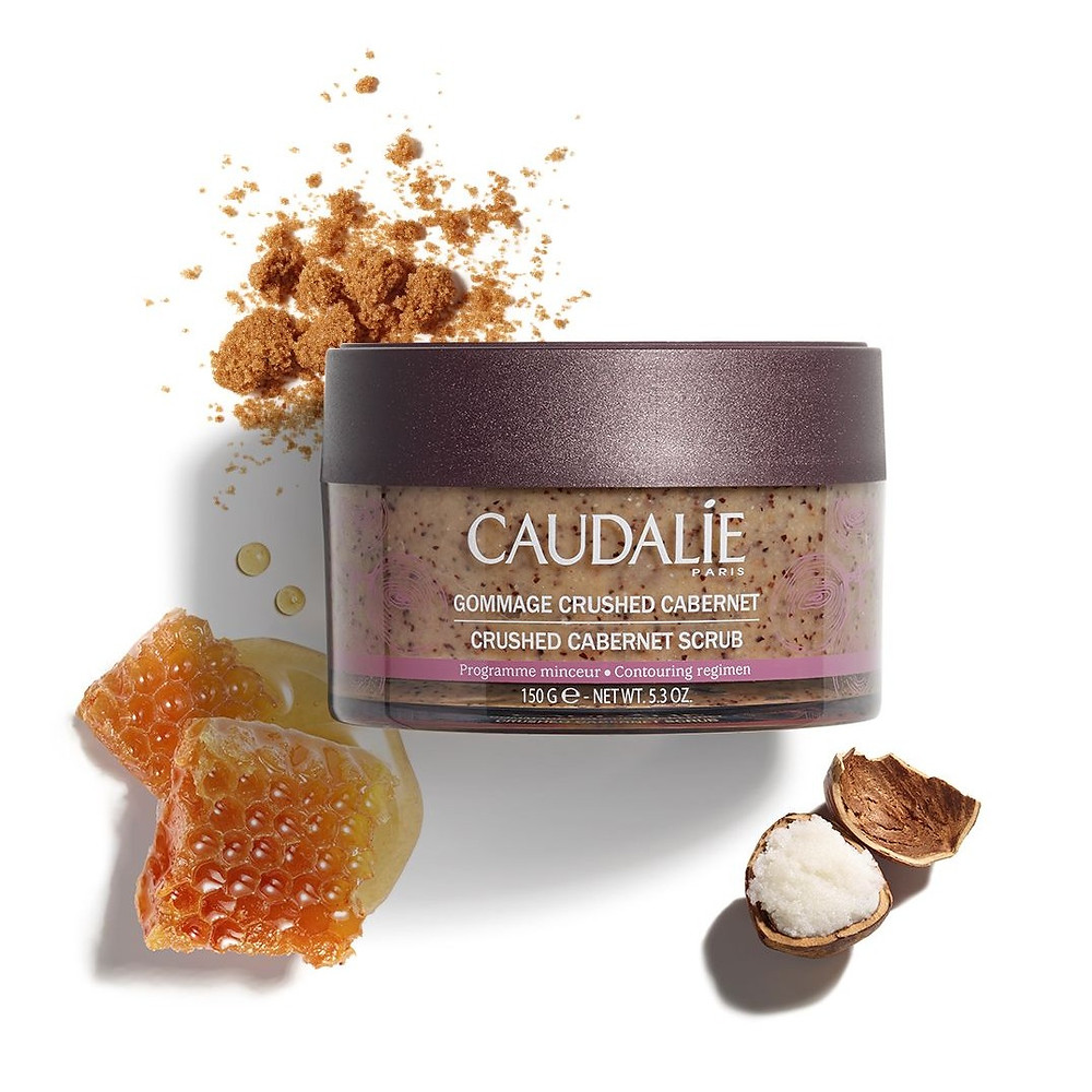vinotherapie body scrub made with grape seeds and 6 essential oils by caudelie