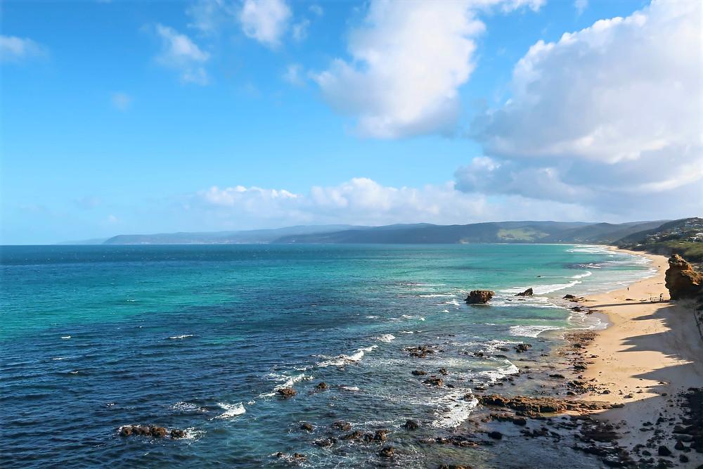 view of the southern ocean along australia's shipwreck coast