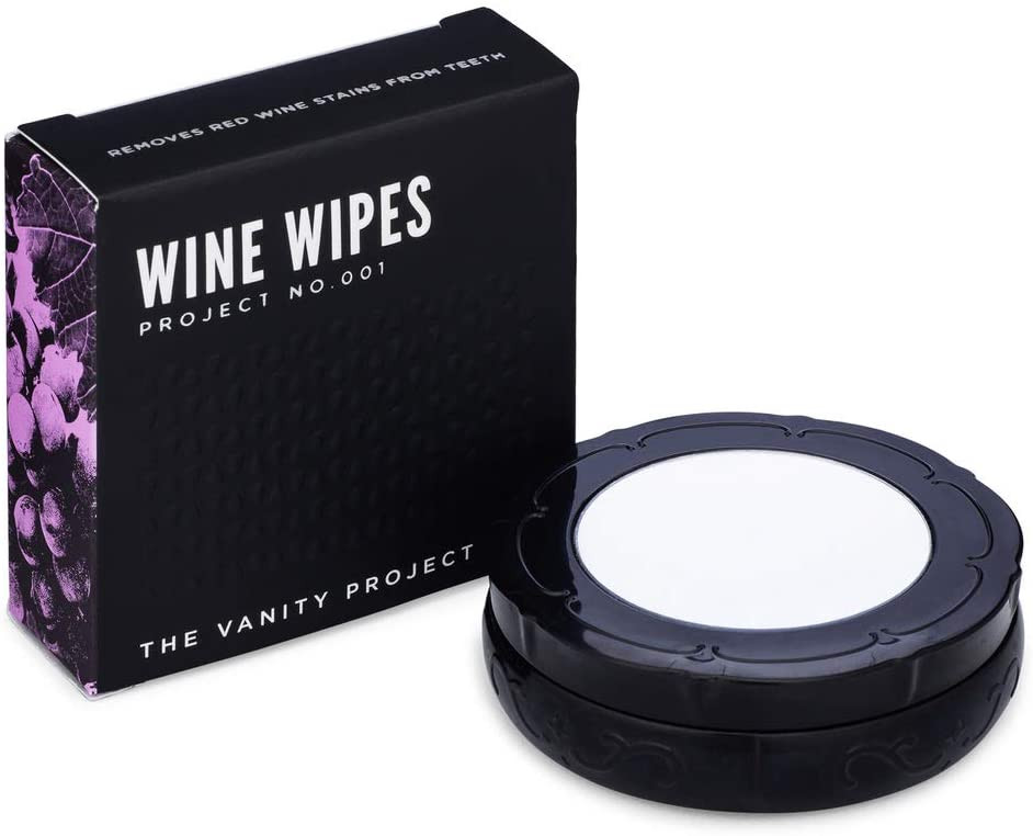 wine wipes for removing the purple stains from your teeth after drinking red wine, essentials for wine country