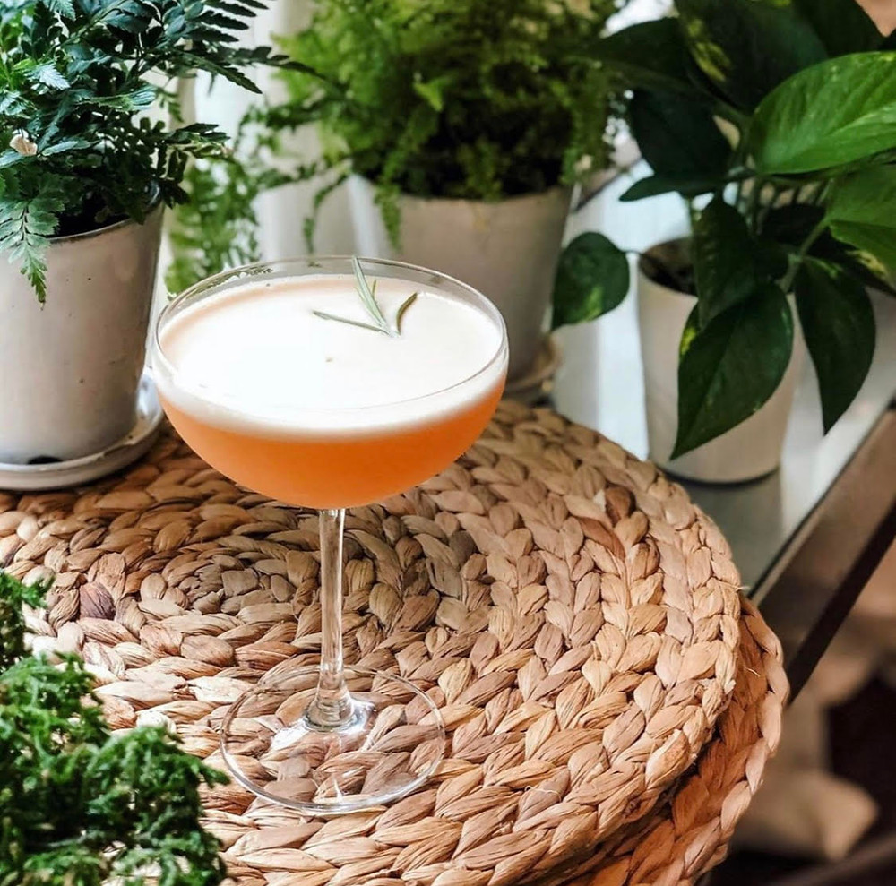parched around the world, cocktails with carolyn, a scotch cocktail muddled with honey and rosemary, the bitter truth, natalie's orchid island juice, monkey shoulder scotch, blended scotch