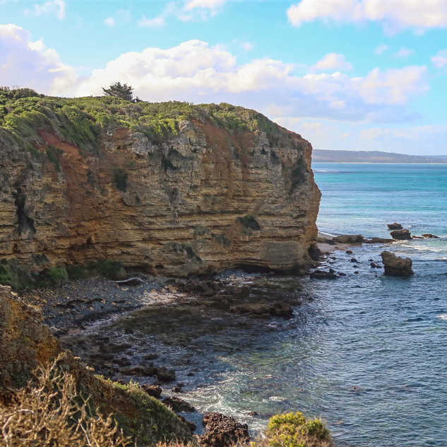 cliffside views from split point lighthouse, visit victoria, travel australia