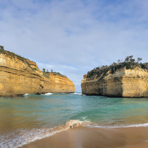 panoramic photo of loch ard gorge