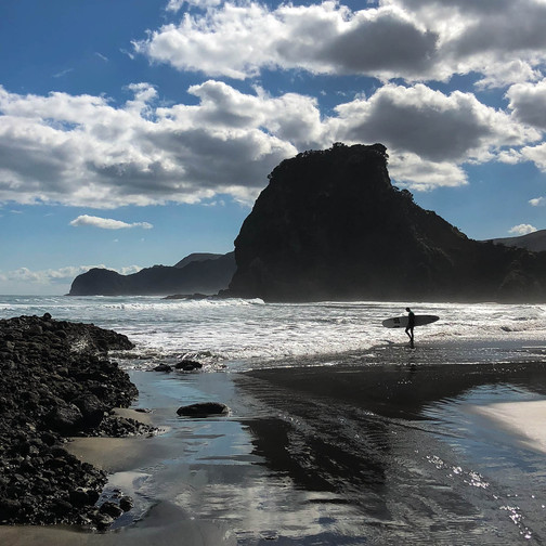 dormant volcanoes in new zealand, beaches in new zealand, can you climb up lion rock at piha beach