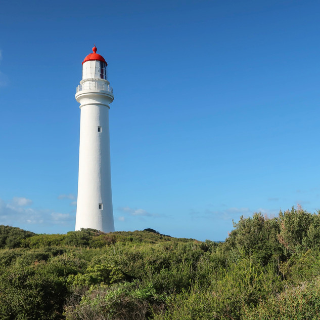 view of split point lighthouse along the great ocean road in victoria australia, parched around the world