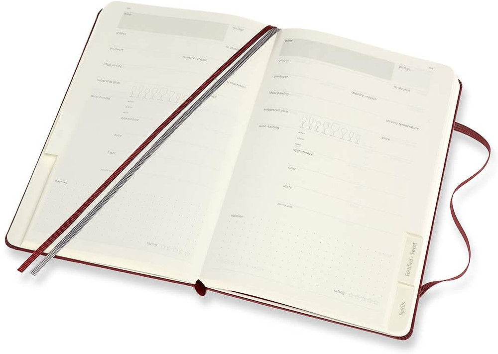 moleskin wine passion journal to track tasting notes wine producers and favorite wine bottles