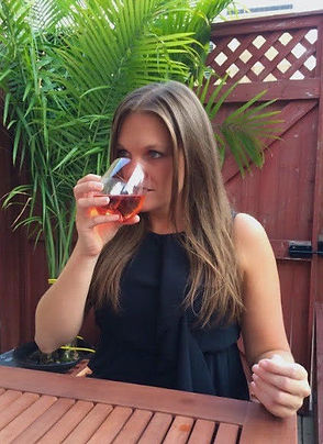 Sommelier Allison Allie Albanese drinking rose wine in New York City, wine writer, freelance journalist, cocktails, communications, social media, open-minded, traditions, winery cellarhand, pinot noir