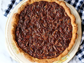 RECIPE: BOURBON & DARK CHOCOLATE PECAN PIE