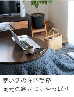 寒い冬の在宅勤務。足元の寒さにはやっぱり・・・